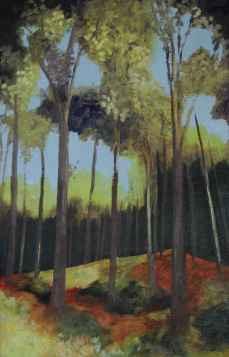 Olieverfschilderij In het bos