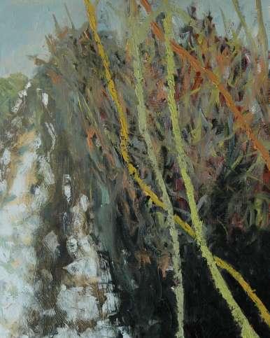 Olieverfschilderij In de velden