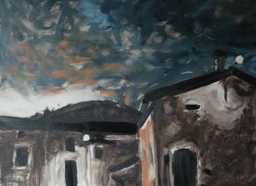 Olieverfschilderij Stormachtige zomer