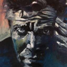 Olieverfschilderij Man met indringende blik