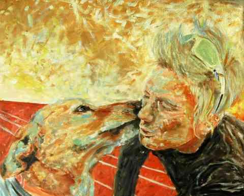 Olieverfschilderij Marieke met Zenn