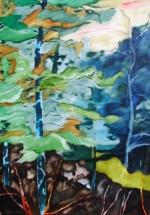 Olieverfschilderij Bos