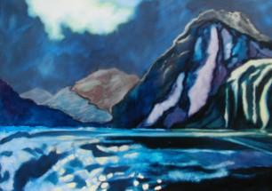 Olieverfschilderij Fjord