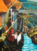 Olieverfschilderij Waterval