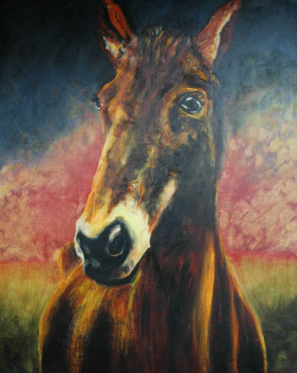 Olieverfschilderij Paard