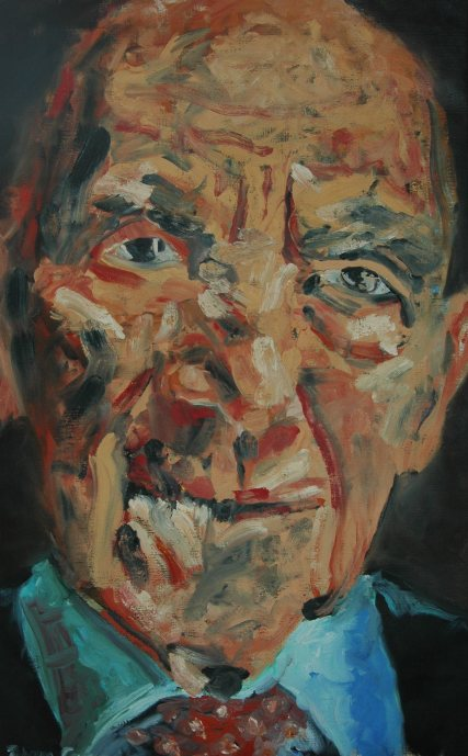 Olieverschilderij Stéphane Hessel