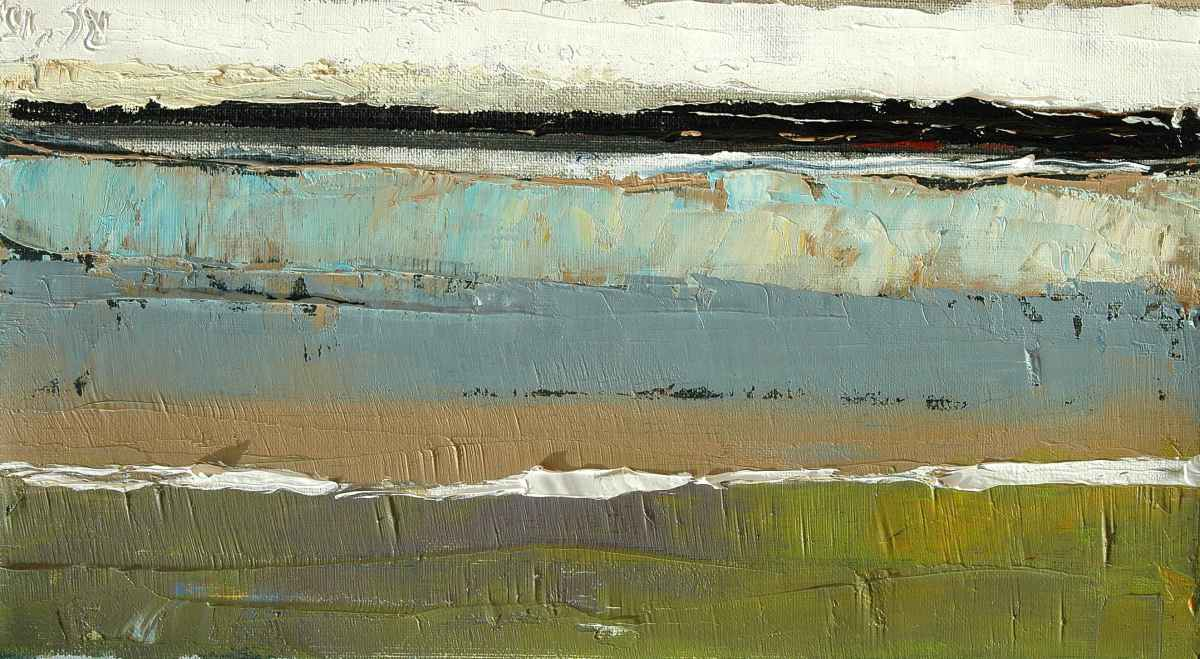 Olieverfschilderij Strand