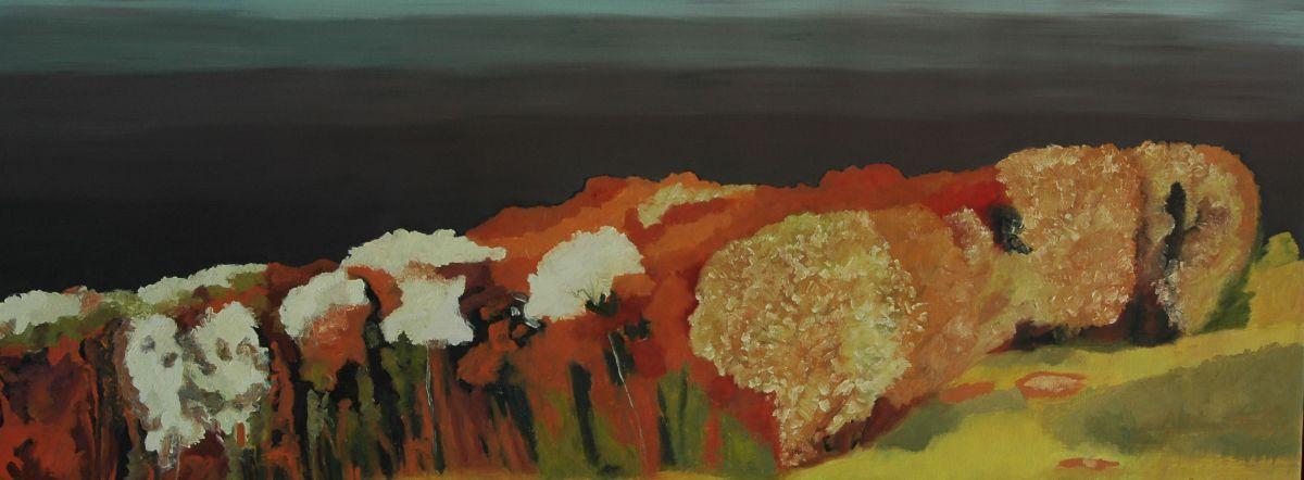 Olieverfschilderij Valavond na onweer