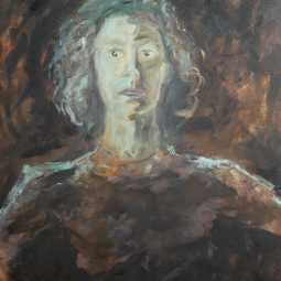 Olieverfschilderij Zelfportret 2015
