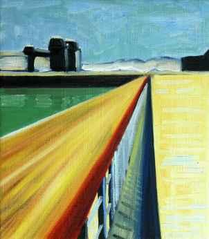 Olieverfschilderij Vijf minuten weg van het station