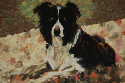 Rebecca Carron, Schaapherder zonder schapen, oil painting, 125x110 cm, 2012
