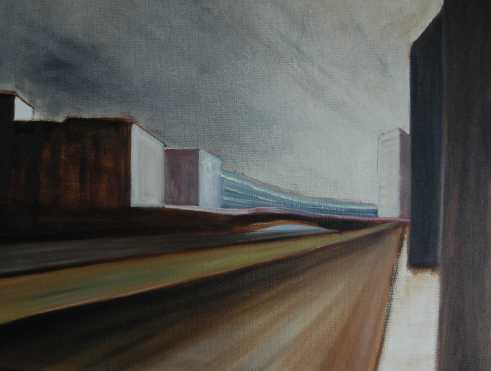 Olieverfschilderij Langs de wegen