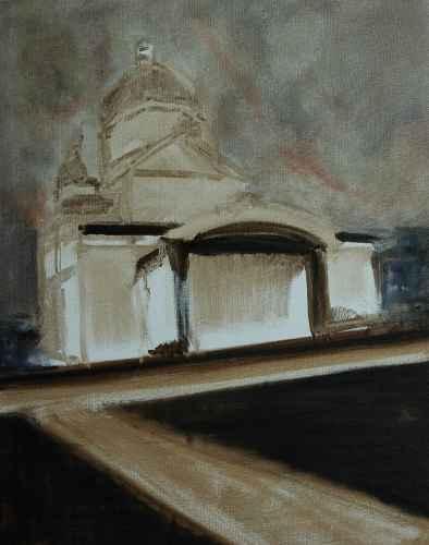 Olieverfschilderij Na het optreden