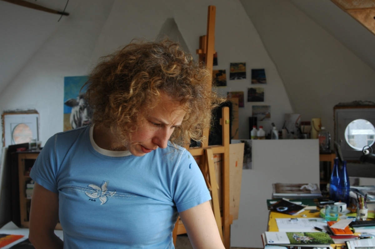 Rebecca Carron at her atelier