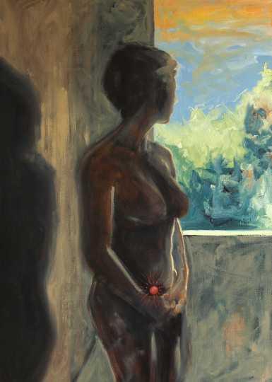 Olieverfschilderij Tussen onrust en hoop