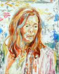 Rebecca Carron_artist_Mijmerend in de tuin