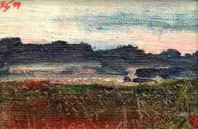 Rebecca Carron_Miniature Landscape 4, oil painting,10x13,5 cm, 2014