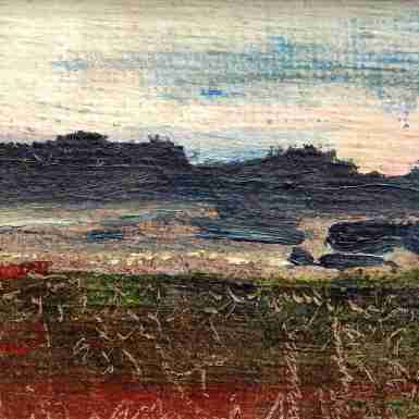 Rebecca Carron_Miniature Landscape 4, oil painting,10x13,5 cm, 2014